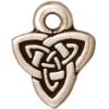 Charm Celtic Triad Antique Silver